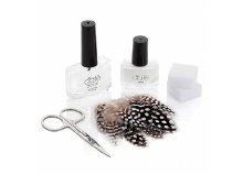 Ciate madártollmanikűr-készlet mini alaplakkal, fedőlakkal, tollakkal, manikűrollóval, korrigáló szivaccsal