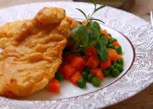 2-személyes ínyenc menü - ínycsiklandozó sajtos párizsi szelet zöldséges rizs körettel, tartármártással