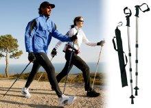Egy pár Nordic Walking állítható sétabot