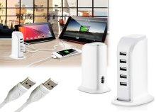 5 portos, gyors USB töltő
