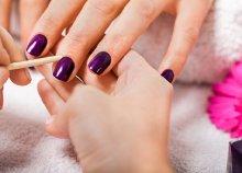 Manikűr színes vagy francia gél lakkozással + két ujj díszítéssel