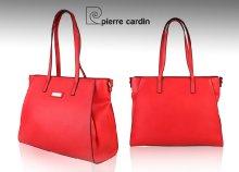 Pierre Cardin márkájú, márkajelzéssel díszített, műbőr női válltáska kétféle színben