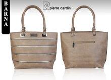 Pierre Cardin csíkos mintás, eco-bőr női válltáska háromféle színben