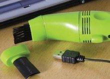 USB mini porszívó, cserélhető fejjel