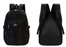 Jól pakolható, fekete, cipzáras, nagy méretű, kényelmes hátizsák