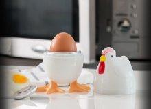 Praktikum a konyhában: egyszerűen, mikróban használható, egyszemélyes tyúk formájú tojásfőző, akár húsvétra is