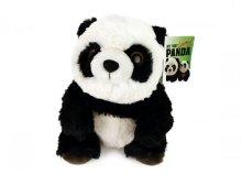 26 cm-es ülő, plüss panda mackó