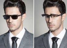 Speciális Clip-on szemüveg, 1,5-ös törésmutatójú lencsével