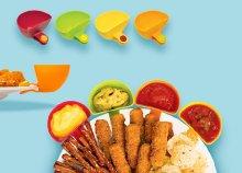 4 darabos Snack Dipper mártogatós tál