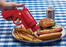 Mustár és ketchup adagoló pisztoly