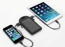 Napelemes külső akkumulátor dupla USB kimenettel