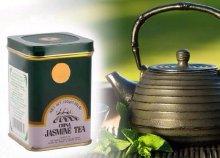 Dr.Chen eredeti kínai zöld tea jázminnal, fém dobozban