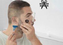Beard Template forma szakállhoz borotválkozó fésűkkel