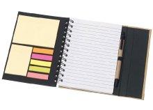 Öko, spirál jegyzetfüzet hozzá illő tollal, A/6-os méretben