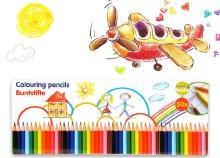 50 darabos színes ceruza készlet