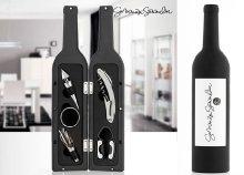 5 részes borosüveg alakú készlet bortartozékokhoz