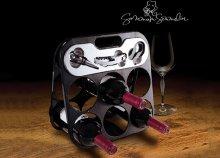 Summum Sommelier üvegtartó boros eszközökkel