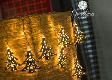 10 LED-es Christmas Planet karácsonyfa girland