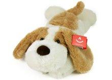 50 cm-es aranyos, lógófülű plüss, fekvő kutyus