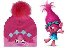 Pomponos, rózsaszín Pipacs hercegnővel díszített lányka sapka