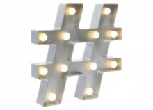 Hashtag formájú TotalGift fali lámpa