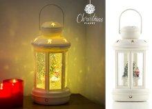 Christmas Planet karácsonyi LED lámpa folyadékkal és csillogó részecskékkel