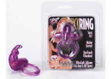 RABBIT SILICONE VIB COCKRING PURPLE