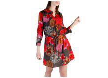 Desigual Dresses 49V2239_3001_GRIGIO-ROSSO