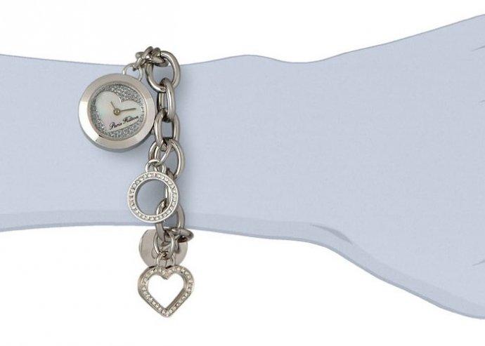 Ragyogj úgy akár egy sztár, ezzel a trendi, Paris Hilton karkötős órával, amelyen stílusos charmok vannak