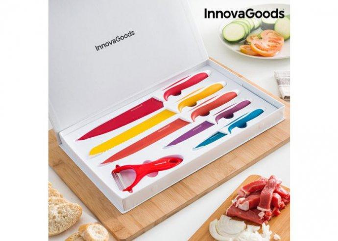 InnovaGoods Kerámia Kés és Hámozó Készlet (6 darabos)