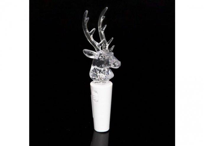 LED-es akril üvegdugó - rénszarvas