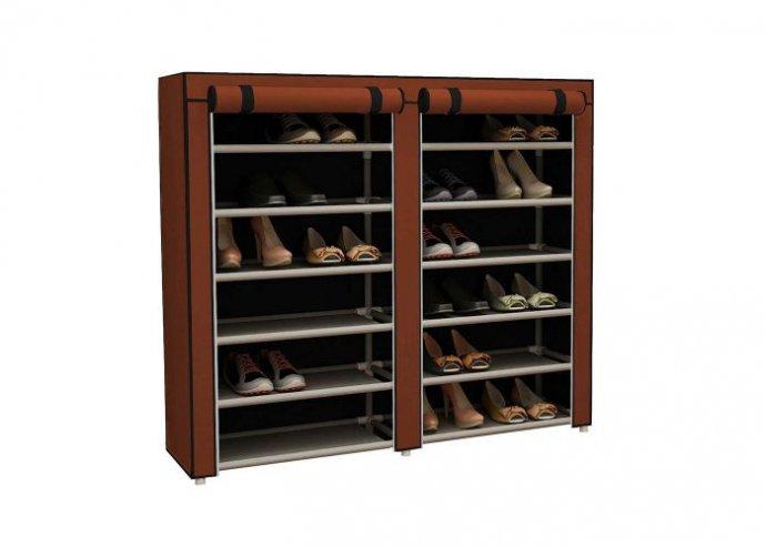Mobil cipőtároló szekrény - barna