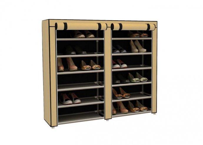 Mobil cipőtároló szekrény - bézs