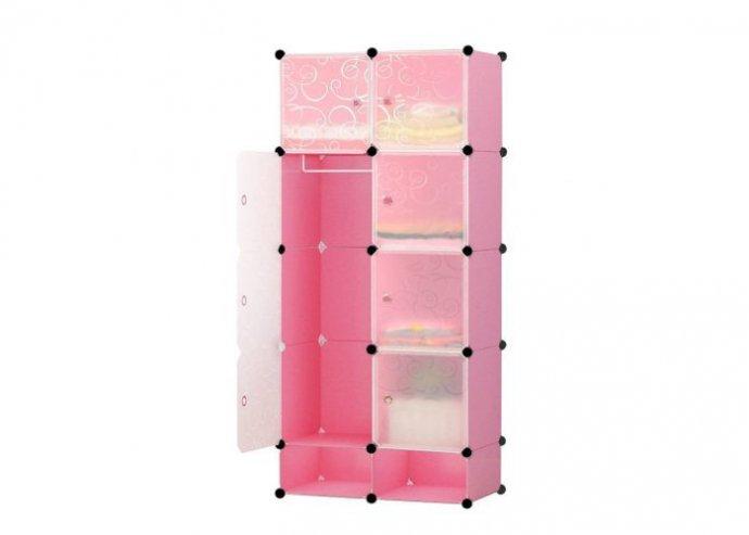 Műanyag elemes szekrény - rózsaszín