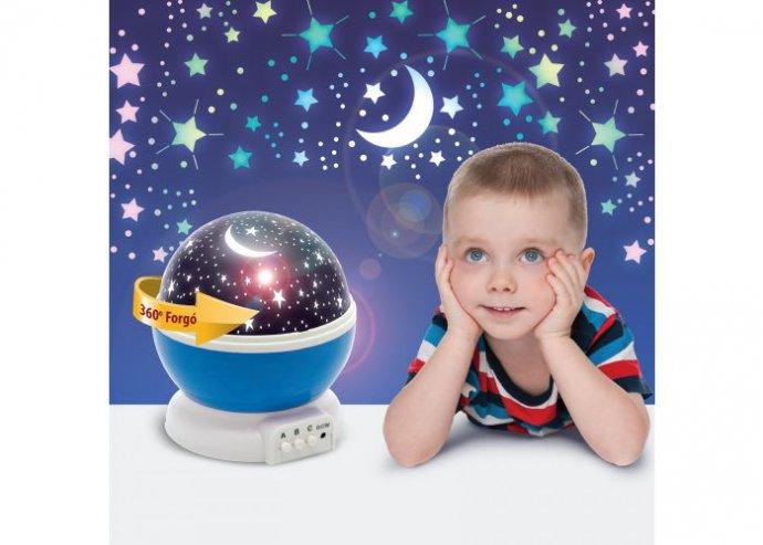 LED csillagos égbolt mini projektor - kék