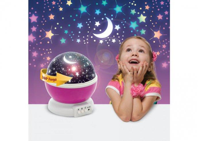 LED csillagos égbolt mini projektor - pink