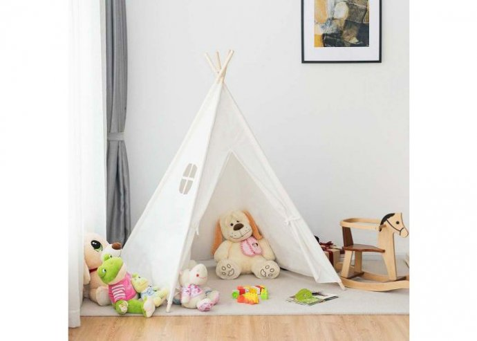 Indián sátor gyerekeknek - fehér
