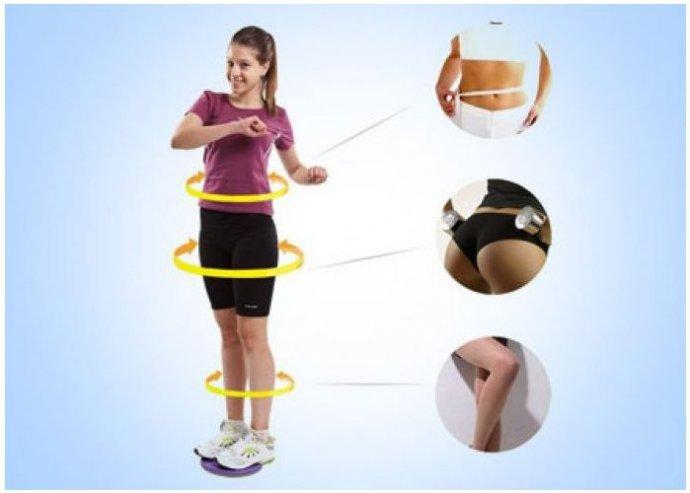 Otthon is használható, tartásjavító és alakformáló Twister fitness korong, hogy már nyárra formában