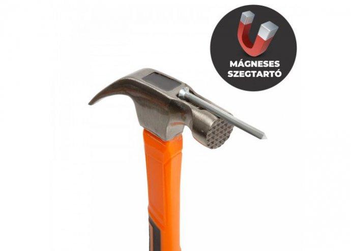 Professzionális ács kalapács mágneses fejjel - 470 g