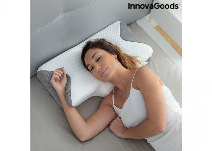 Viszkózelasztikus nyakpárna ergonomikus kontúrokkal