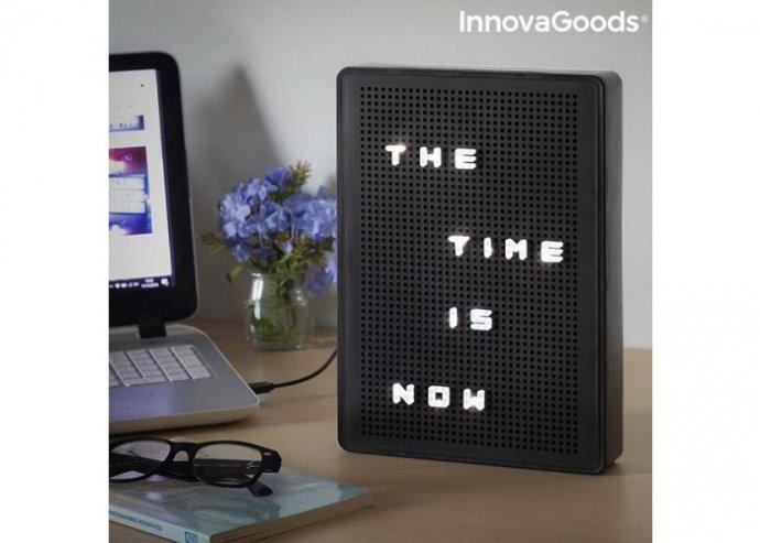 Perforált LED tábla betűk beillesztéséhez