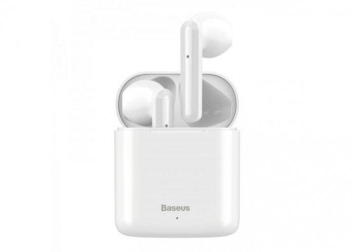 Baseus TWS Encok W09 mini vezeték nélküli fülhallgató Bluetooth 5.0 - Fehér
