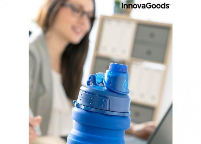Szilikon összecsukható palack Bentle InnovaGoods Gadget To Go