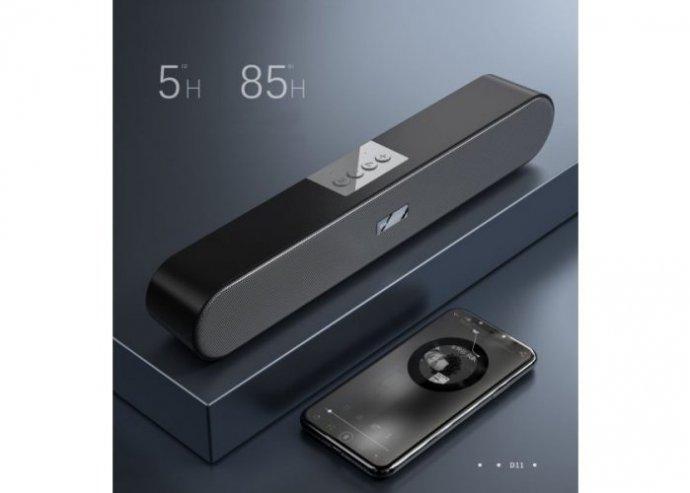 Bluetooth 5.0 vezeték nélküli asztali hangszóró 10W WK D11 - Fekete
