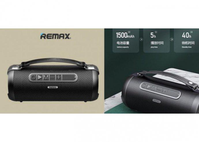 Bluetooth5.0 hordozható hangszóró Gwen RB-M43 Remax - Fekete