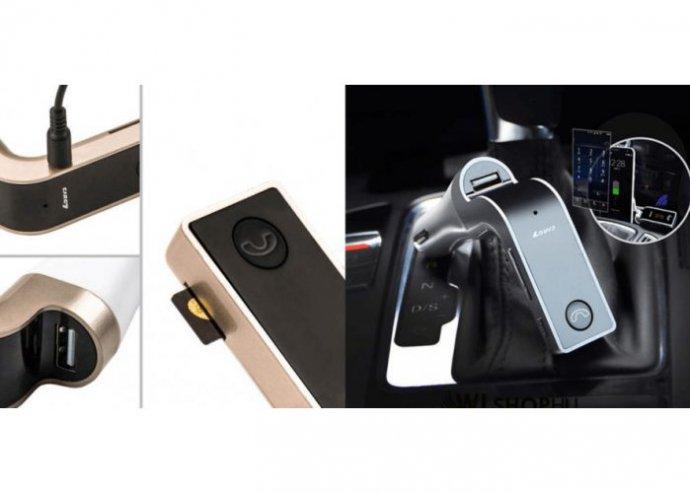 CARG7 Fm transmitter: bluetooth kihangosító - autós töltővel - fekete