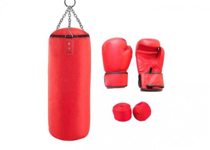 Junior box szett piros 8-as kesztyűvel