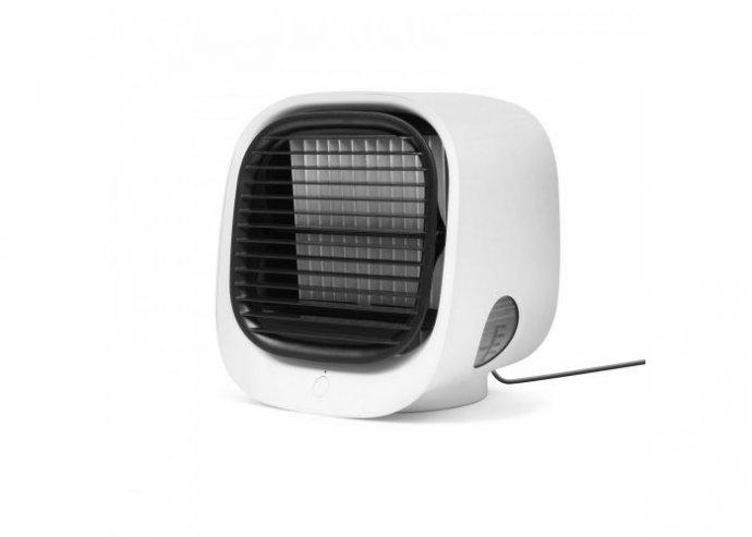 Hordozható mini léghűtő ventilátor - USB - fehér