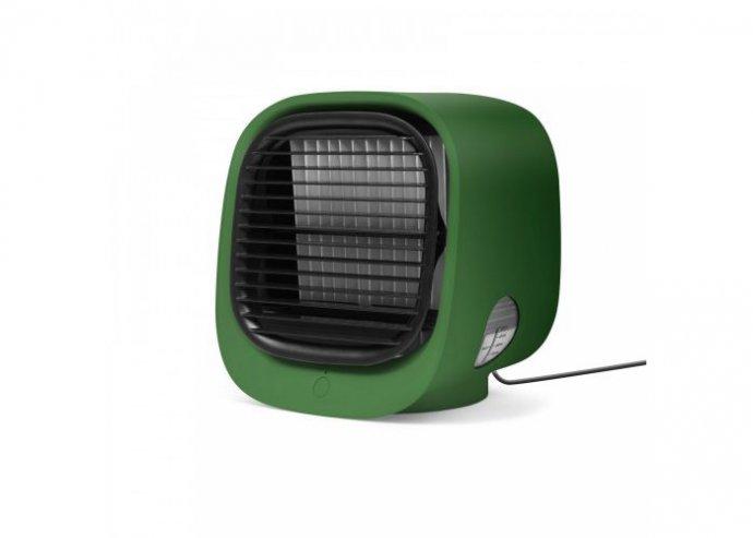 Hordozható mini léghűtő ventilátor - USB - zöld