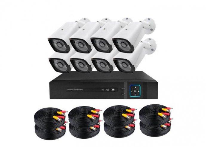 Vezetékes AHD kamerarendszer - 8 kamerás